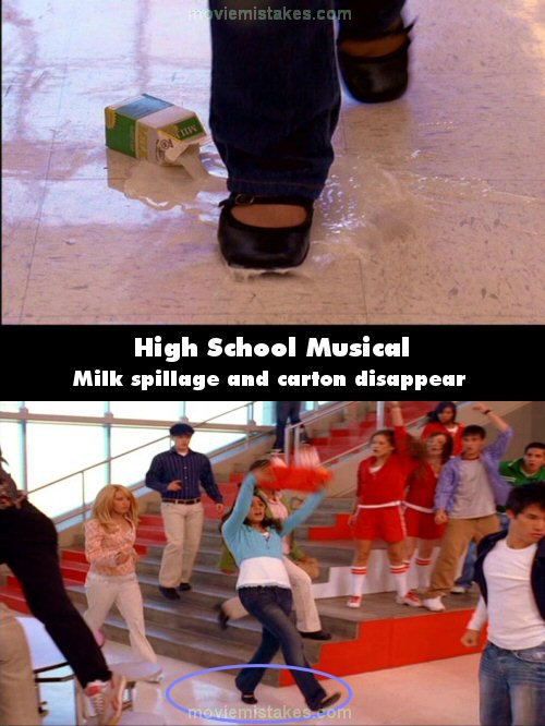 High School Musical (2006) movie mistakes, goofs and bloopers