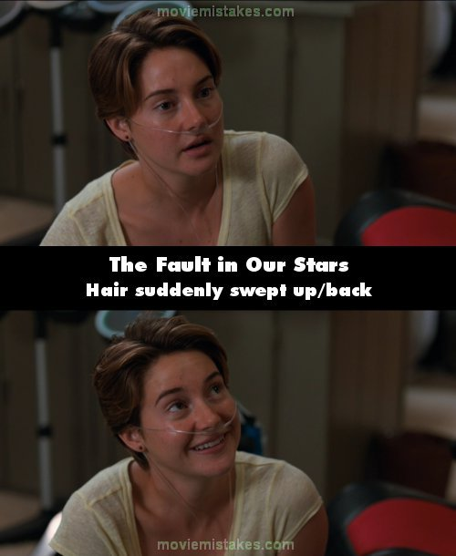 the fault in our stars 2014 movie mistakes goofs and